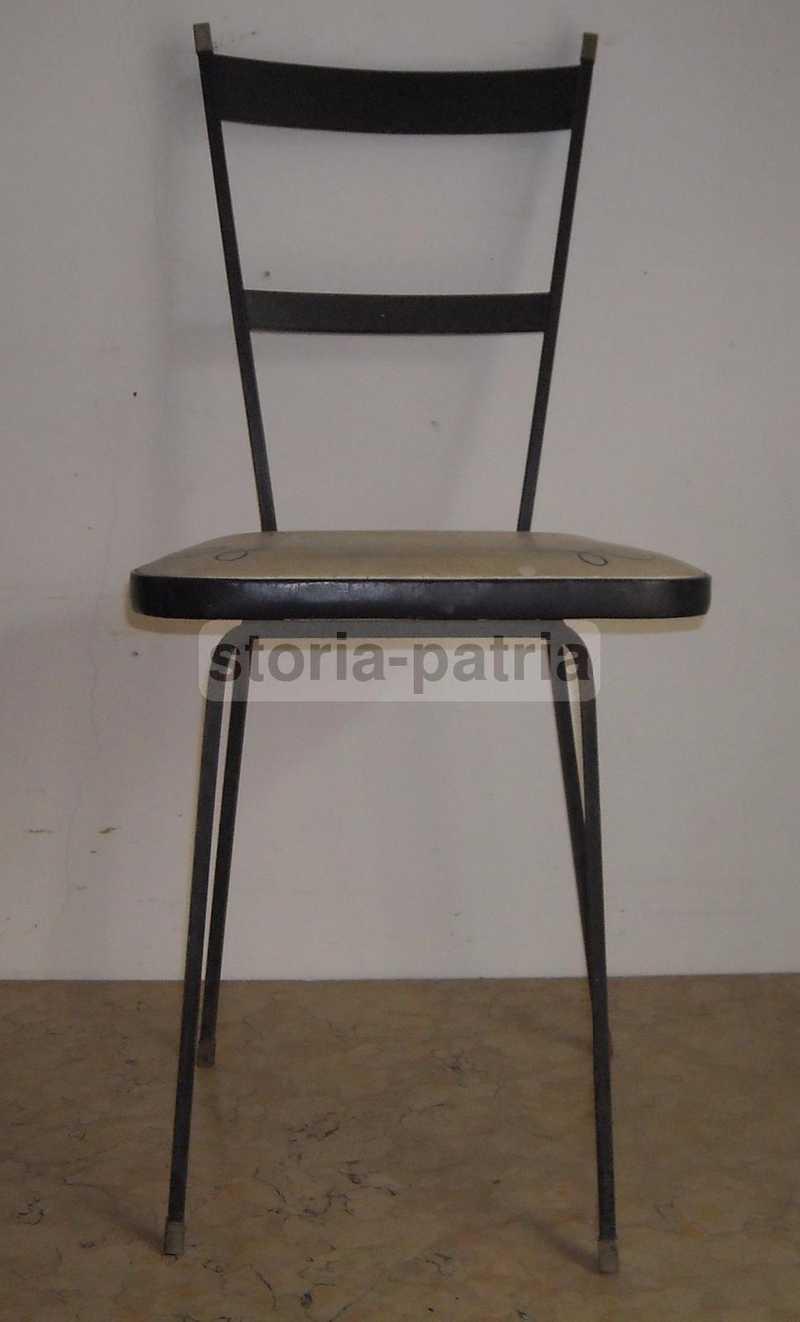Design, Modernariato, Stilizzata Sedia, Struttura In Ferro, Decorativa,  Utile, d\'Epoca